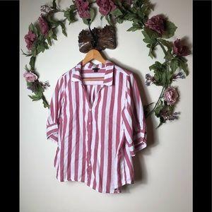 J. Crew | Striped Short Sleeve Shirt